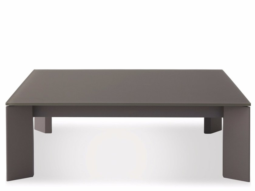 Low square Xeramica coffee table LARGO | Low coffee table by Joli