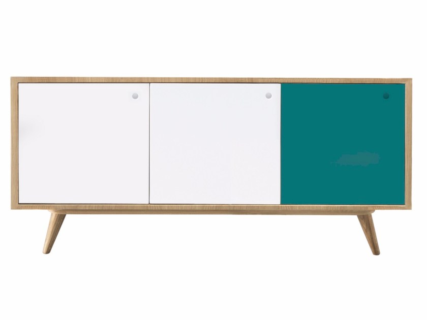 Contemporary style lacquered wooden sideboard with doors LARS by AZEA