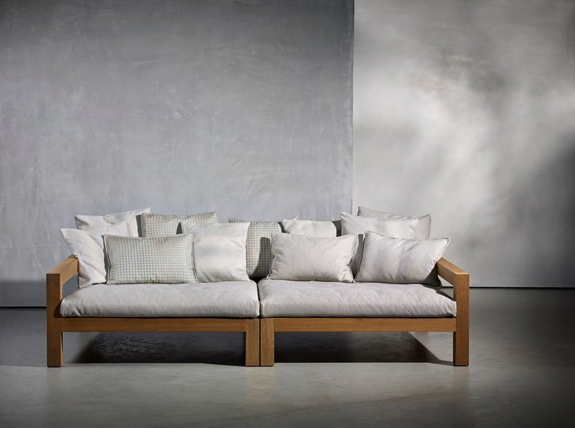 Fabric garden sofa LARS OUTDOOR | Sectional sofa by Piet Boon