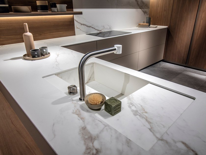 Porcelain stoneware kitchen worktop LARSEN ITOPKER by Inalco