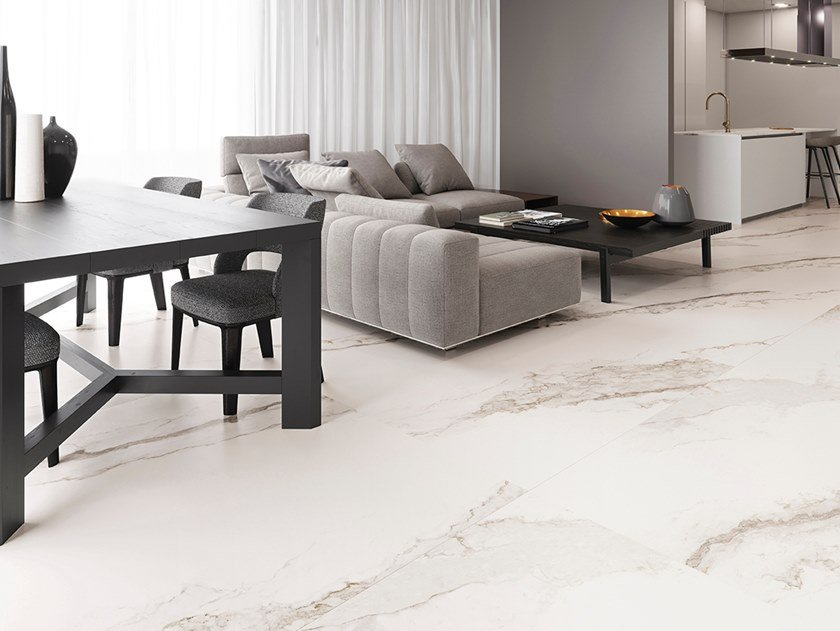 Wall/floor tiles with marble-effect pattern LARSEN by Inalco