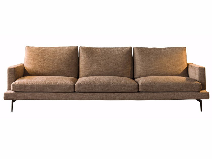 Sectional fabric sofa with removable cover LARSEN | Sectional sofa by Verzelloni