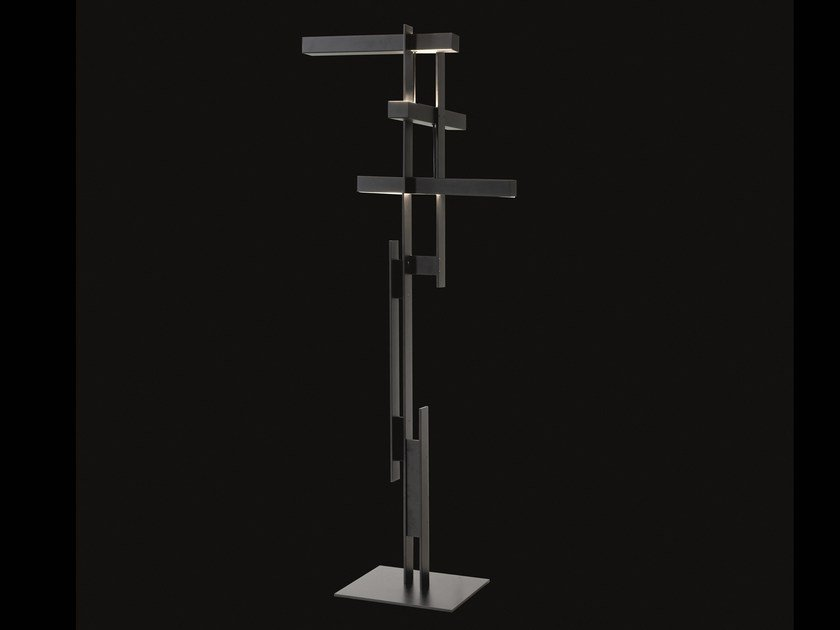 Lampada da terra a LED a luce diretta e indiretta LAS - 376 by Oluce