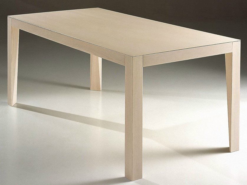 Rectangular wooden table LASER by IFT