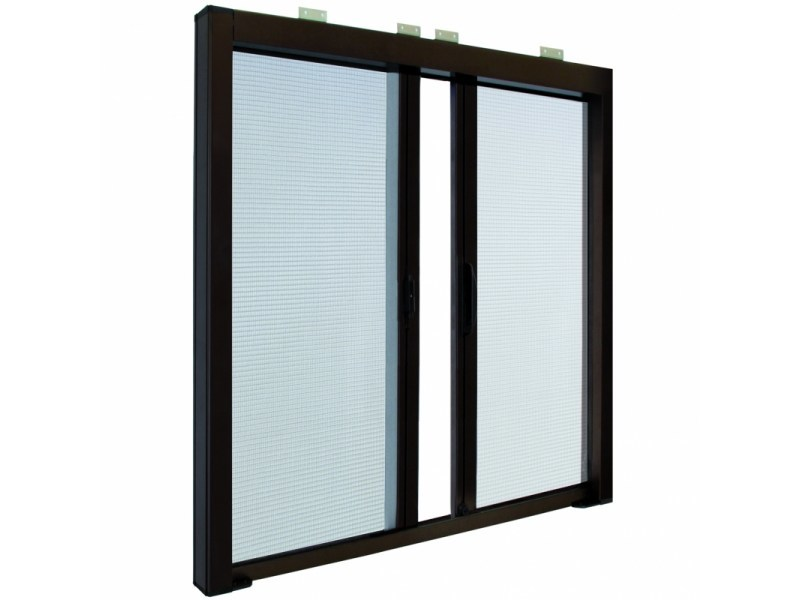 Built-in insect screen with guide system LATERAL DUPLEX 42 | Built-in insect screen by Teknika