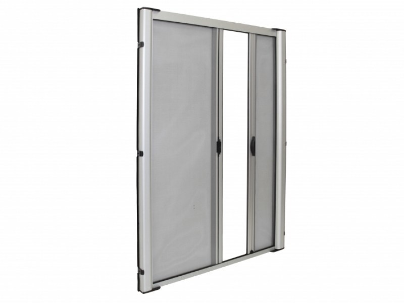 Insect screen with guide system LATERAL DUPLEX 42 by Teknika