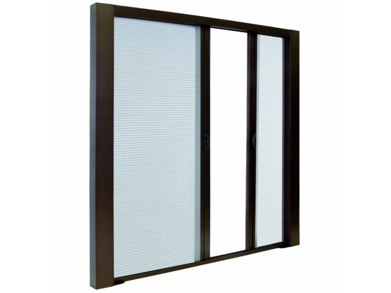 Built-in insect screen with guide system LATERAL DUPLEX TOPLINE by Teknika