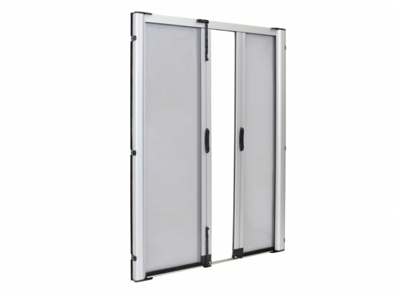 Insect screen with guide system LATERAL SPECIAL DUPLEX 42 by Teknika