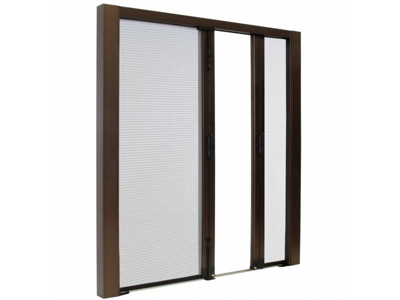 Built-in insect screen with guide system LATERAL SPECIAL DUPLEX TOP LINE by Teknika