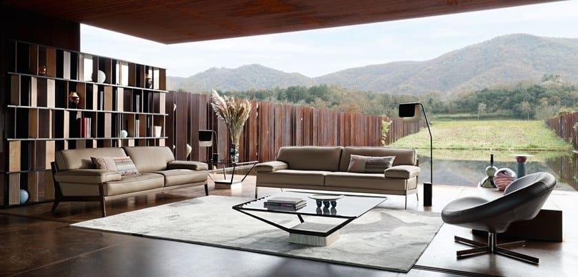 3 Seater Leather Sofa Latitude By Roche Bobois Design