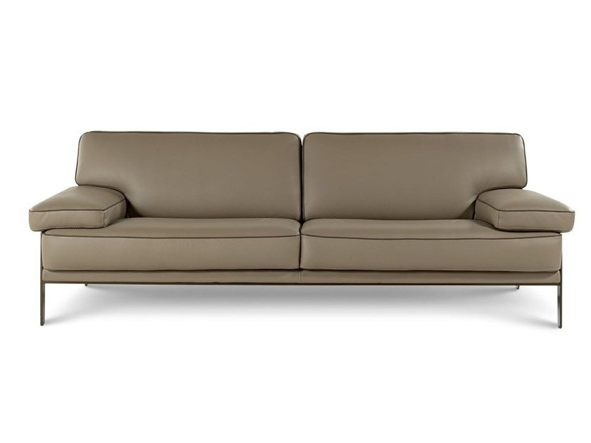 3 seater leather sofa LATITUDE by ROCHE BOBOIS