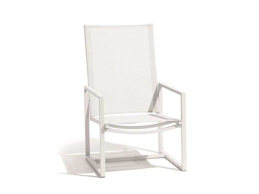 Stainless steel garden armchair with armrests LATONA   Lounge chair by MANUTTI