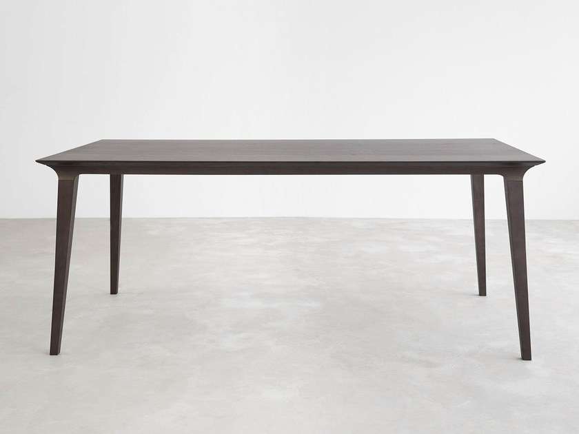Rectangular wooden dining table LAU | Rectangular table by STUA