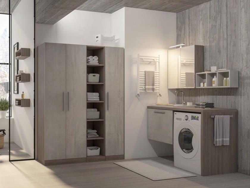 Mobile lavanderia sospeso con lavatoio LAVANDERIA 5 by LEGNOBAGNO