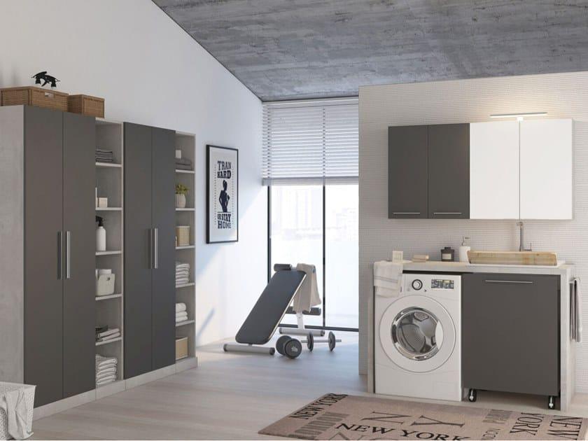 Mobile lavanderia componibile in legno LAVANDERIA 7 by LEGNOBAGNO