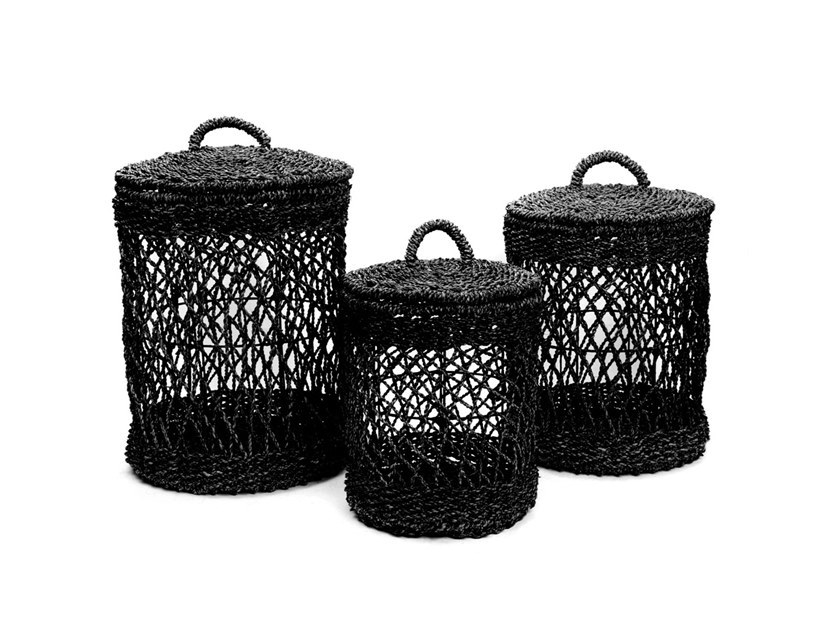 Natural fibre laundry container LAUNDRY   Laundry container by Bazar Bizar