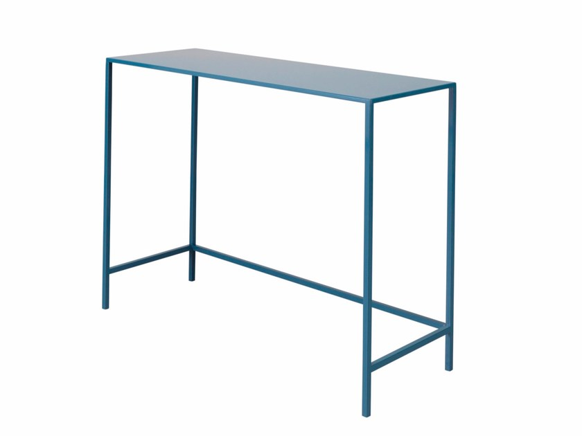 Rectangular steel console table LAUREN by AZEA