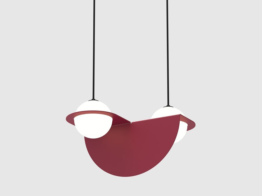LED direct light pendant lamp LAURENT 01 by Lambert & Fils