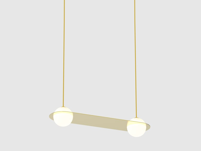 LED direct light pendant lamp LAURENT 03 by Lambert & Fils
