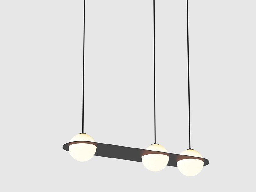 LED direct light pendant lamp LAURENT 07 by Lambert & Fils