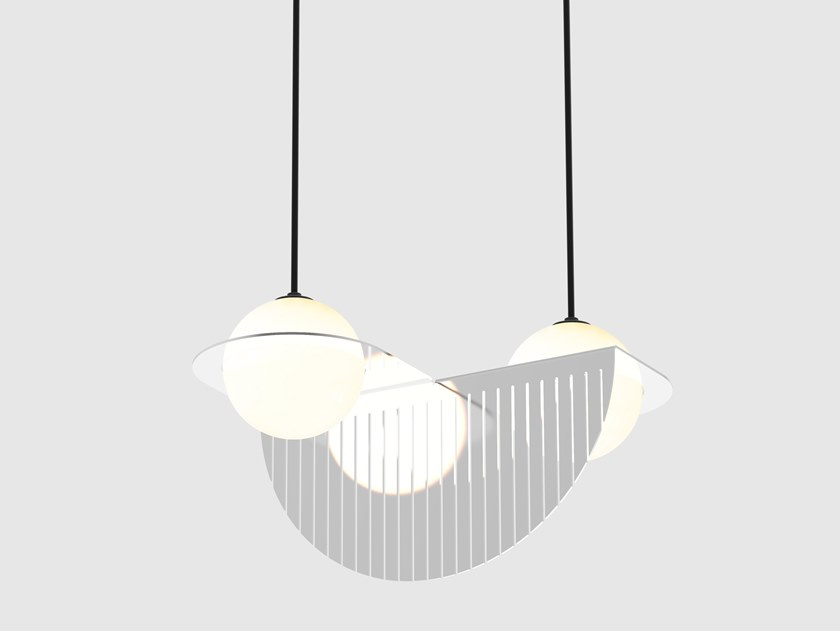 LED direct light pendant lamp LAURENT 09 by Lambert & Fils