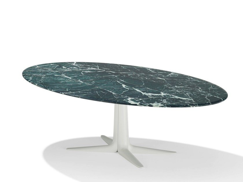 Oval natural stone dining table LAURO | Oval table by Draenert