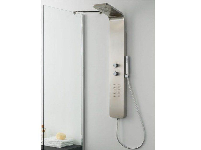 Thermostatic shower panel with hand shower LAUS by Systempool