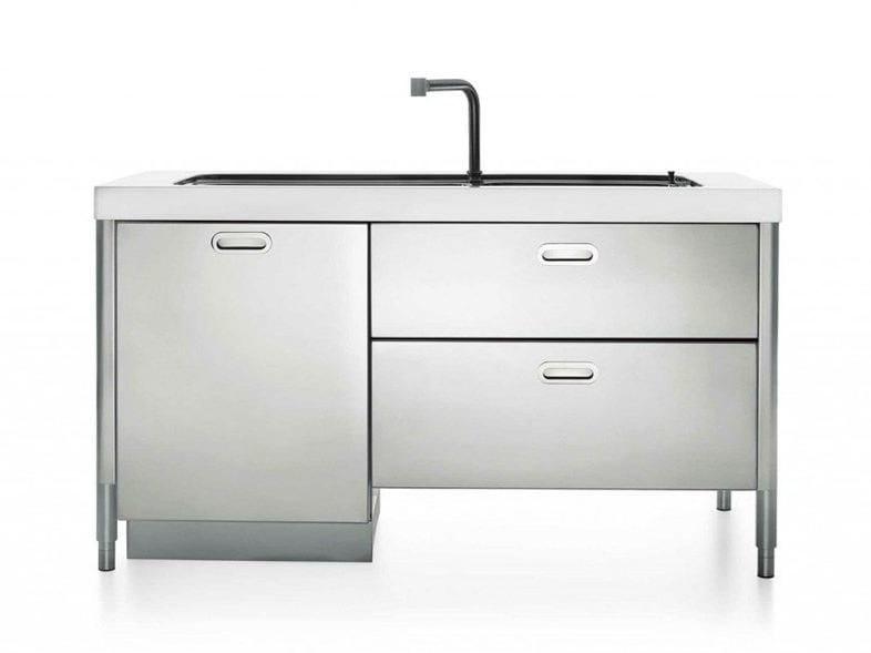Cucina / lavello in acciaio LAVAGGIO 160 | Lavello - ALPES-INOX