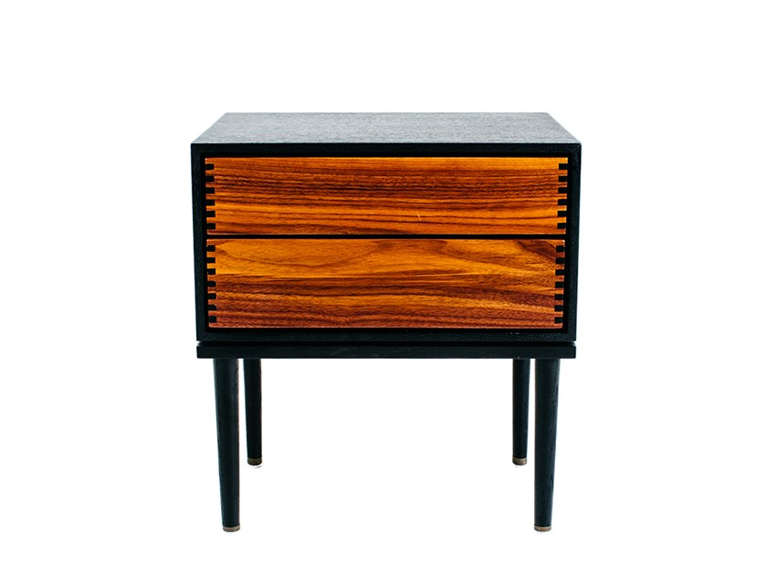 Wooden bedside table with drawers LAVAL BEDSIDE DRAWER by STELLAR WORKS
