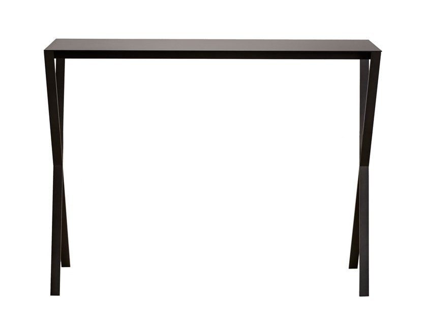 Rectangular steel console table LAX | Steel console table by more