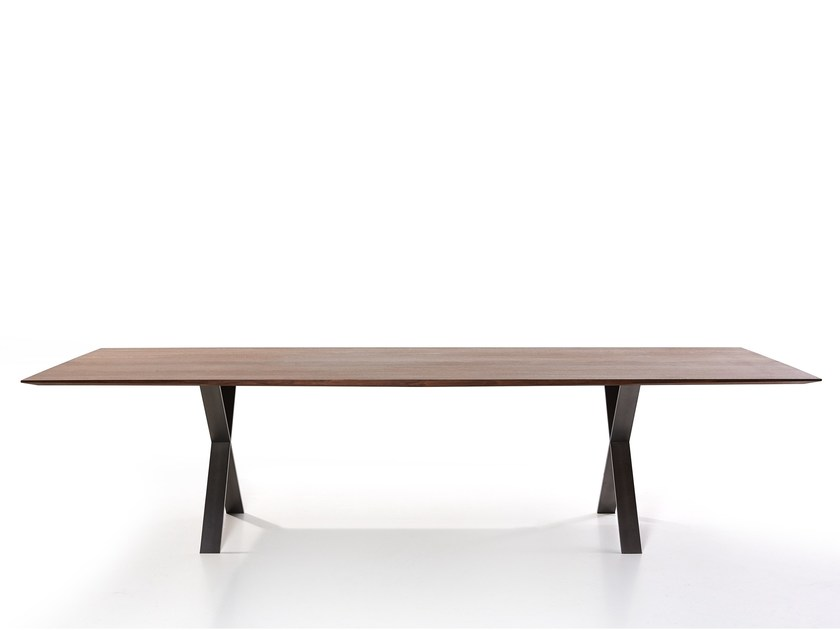 Rectangular wooden dining table LAX | Table by more