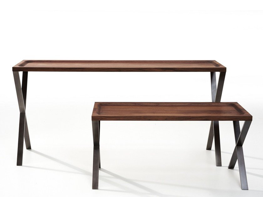 Rectangular wooden console table LAX | Wooden console table by more