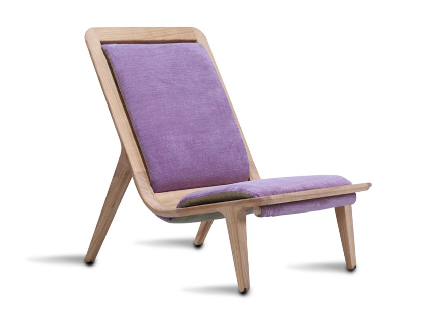 Upholstered high-back fabric armchair LAYAIR01 | High-back armchair by HOOKL und STOOL