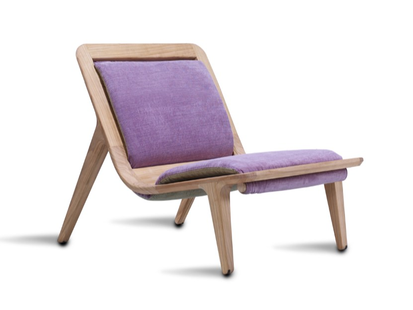 Upholstered fabric armchair LAYAIR01 | Armchair by HOOKL und STOOL