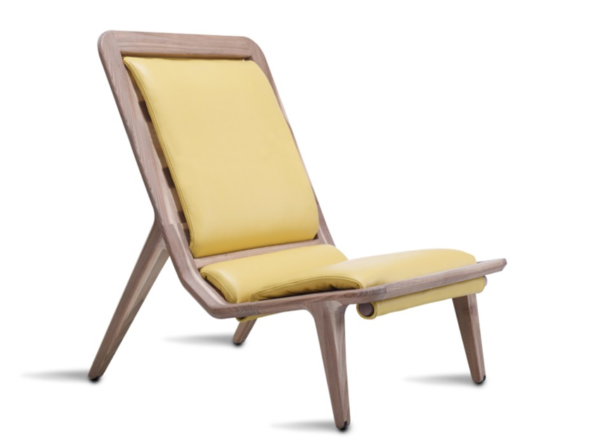 Upholstered high-back leather armchair LAYAIR02 | High-back armchair by HOOKL und STOOL