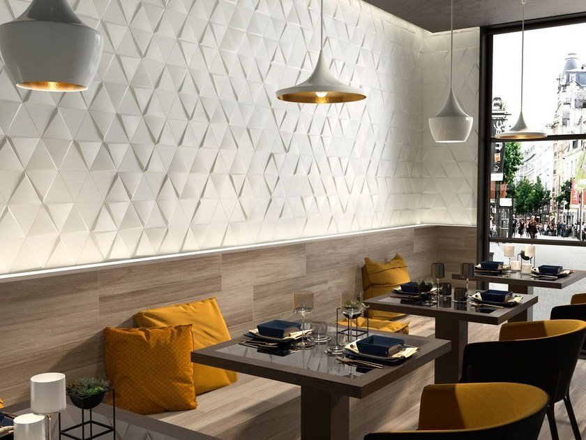 White-paste wall tiles LAYER by ZYX