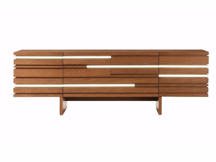 Sideboard with integrated lighting LAYERS by ROCHE BOBOIS