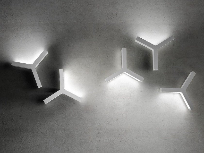 LED indirect light wall light LAYPSILON by Olev