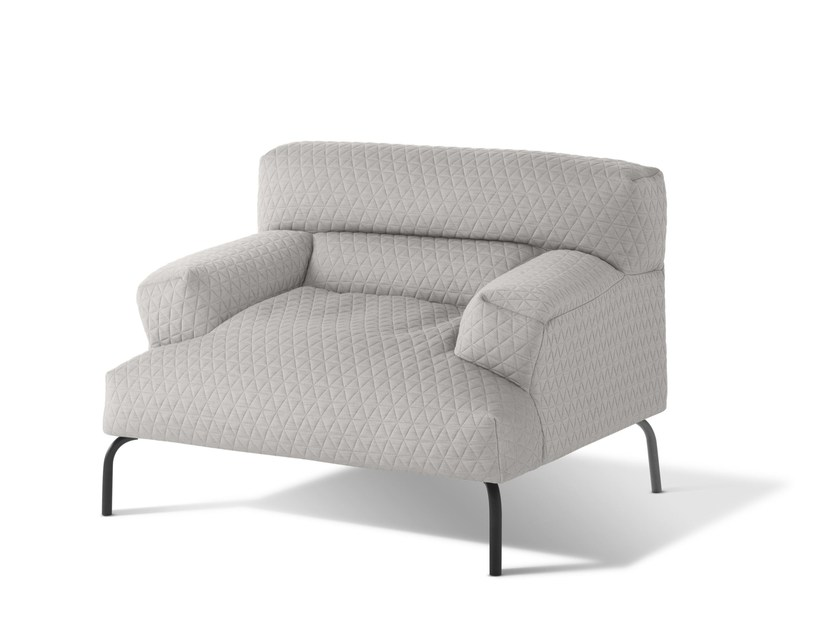 Upholstered fabric armchair with armrests LAZY BASTARD | Armchair by Montis