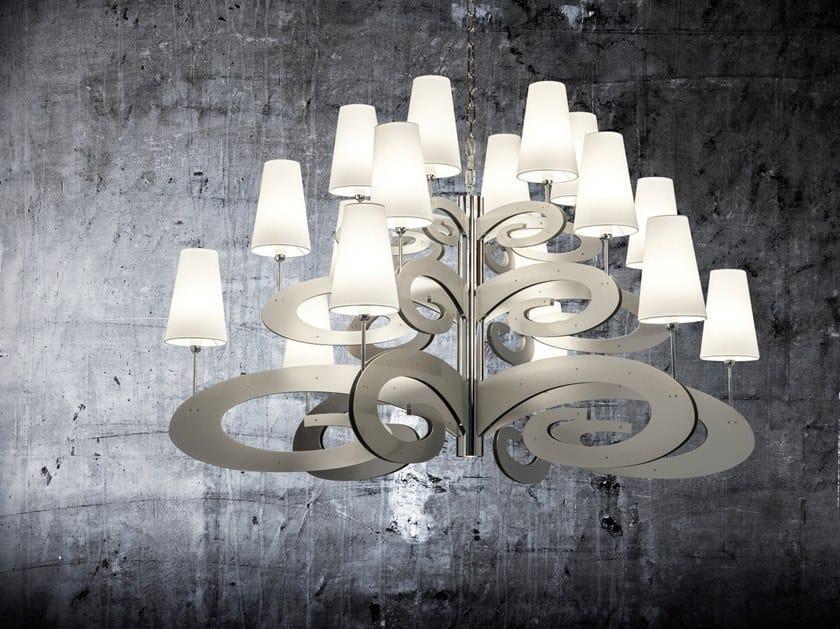 Metal pendant lamp LAZY SUNDAY H18+1 by ILFARI