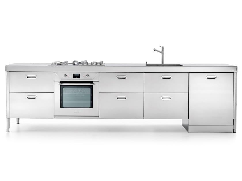 Cucina lineare in acciaio inox LC 310-1 | Cucina - ALPES-INOX
