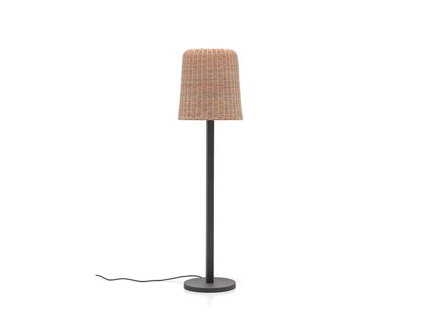 Woven Wicker Floor Lamp Lc 93 By Gervasoni Design Paola Navone