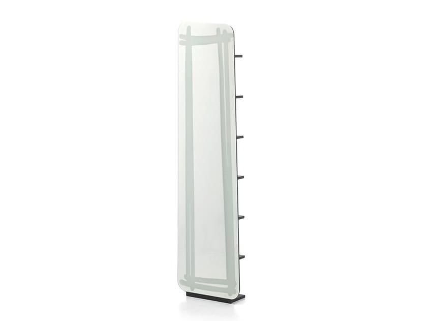 Freestanding mirror with shelf LC 98 by Gervasoni