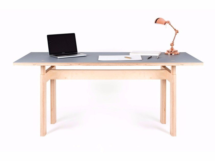 Rectangular plywood table LC   Table by MALHERBE EDITION