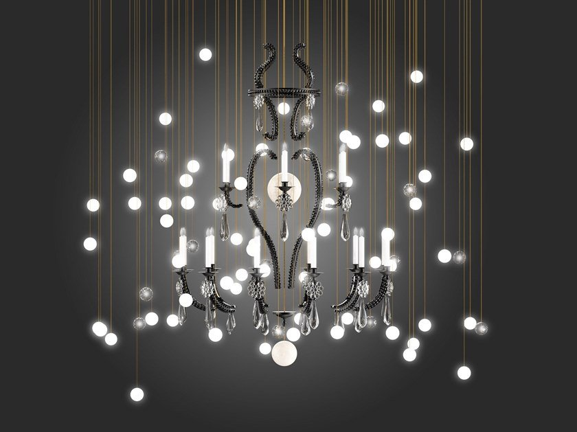 LED blown glass chandelier LE MERVEILLEUX | Chandelier by Beau & Bien