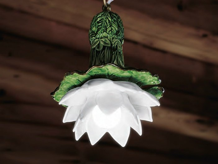Ceramic pendant lamp LE NINFEE | Pendant lamp by Aldo Bernardi