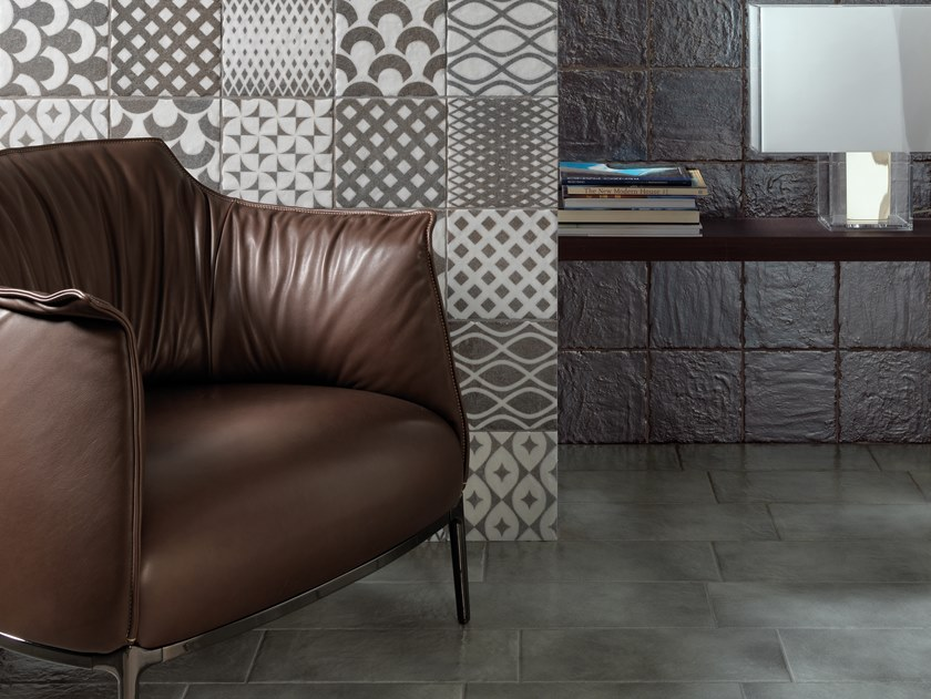 Glazed stoneware wall/floor tiles LE OSSIDIANE | Wall/floor tiles by Cerasarda