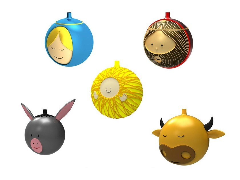 Blown glass Christmas ornaments LE PALLE PRESEPE by Alessi