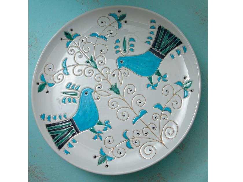 Round ceramic tray LE PAVONCELLE | Round tray by Cerasarda