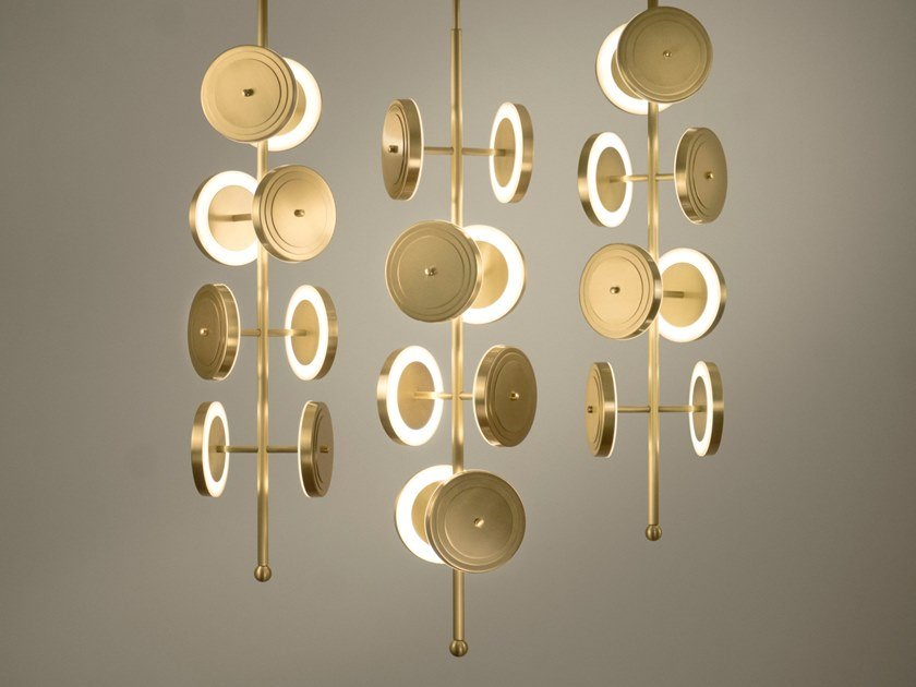 LED ceiling lamp LE ROYER -  CHANDELIER by Larose Guyon